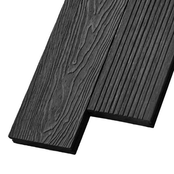 Композитная террасная доска из ДПК, декинг, палубная доска Deckson Pinea 3D 140х20 мм цвет графит