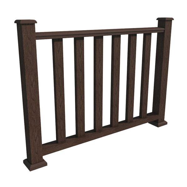 Ограждение ДПК в сборе WoodVex Select цвет темно-коричневый