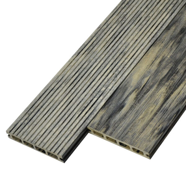 Террасная доска ДПК, декинг WoodVex Siesta цвет серый дым (мультиколор)