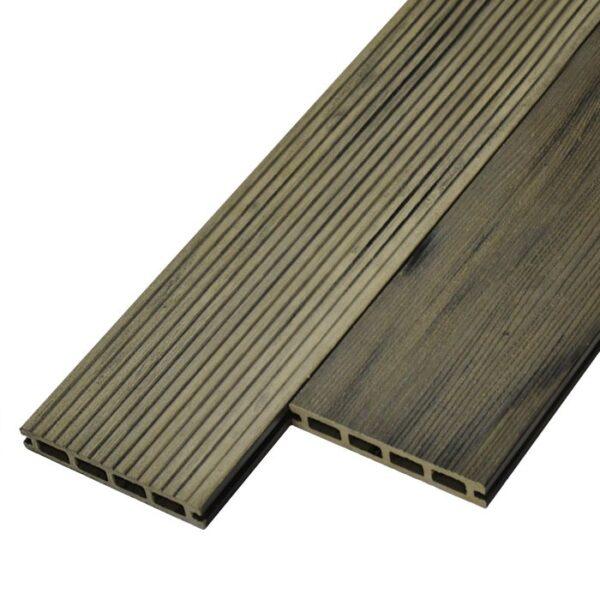 Террасная доска ДПК, декинг WoodVex Siesta цвет серый (мультиколор)