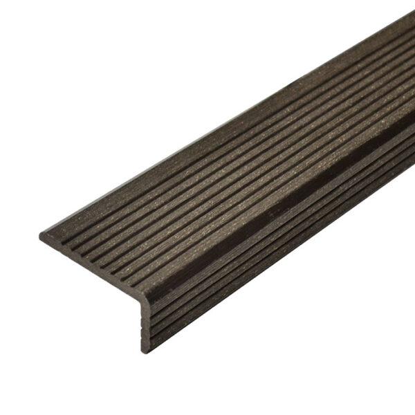 L-планка, угол ДПК для террасной доски Select 70х35х4000 мм цвет венге