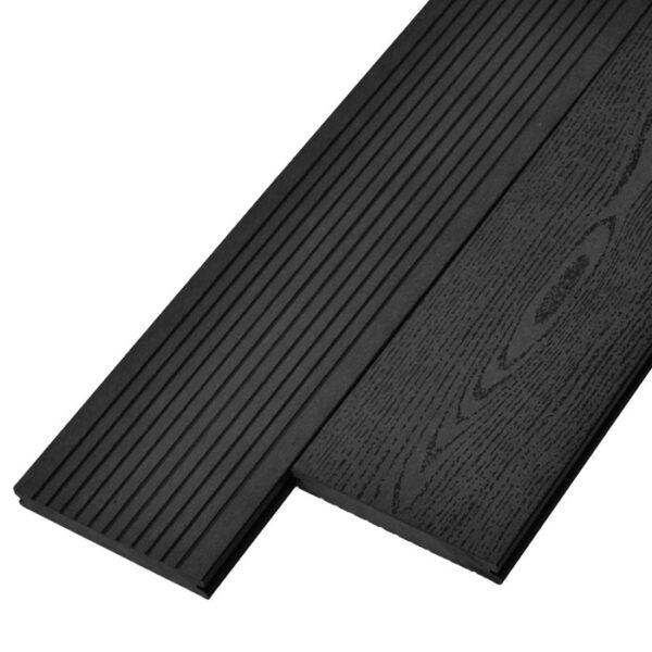 Террасная доска ДПК, декинг, палубная доска Deckson Monolit 140х20 мм цвет графит