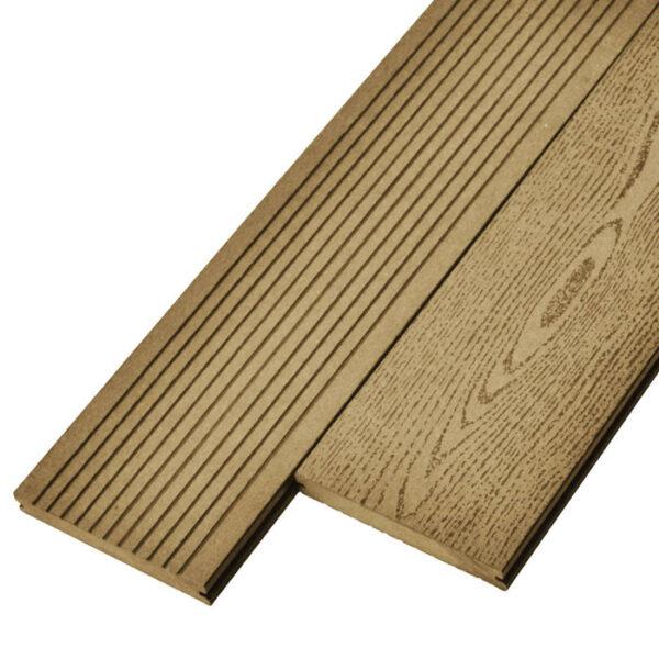 Террасная доска ДПК, декинг, палубная доска Deckson Monolit 140х20 мм цвет орех