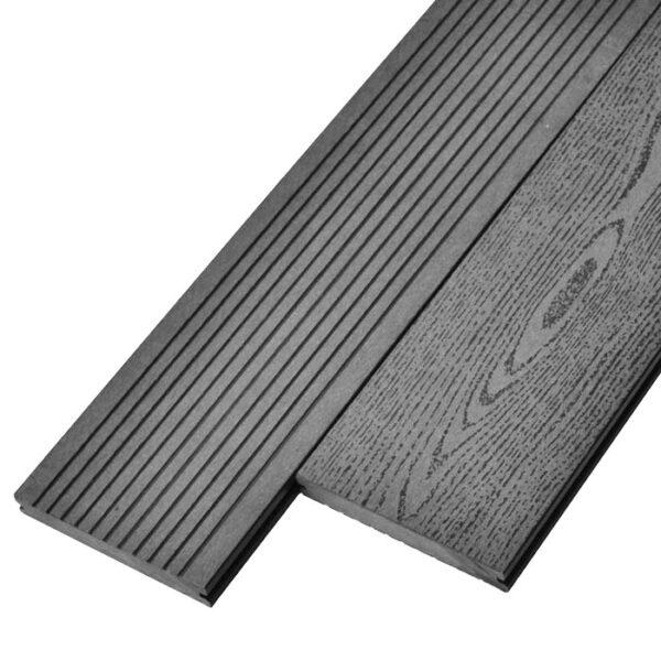 Террасная доска ДПК, декинг, палубная доска Deckson Monolit 140х20 мм цвет серый