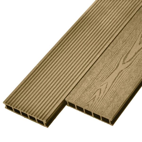 Террасная доска ДПК, декинг Deckson Universal 165х32 мм цвет орех