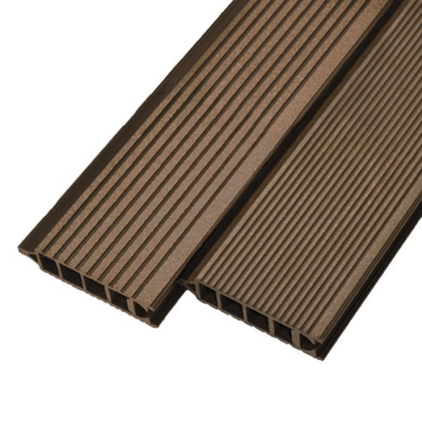 Террасная доска ДПК, бесшовная доска Werzalit Terrazat 145х38 мм цвет марроне