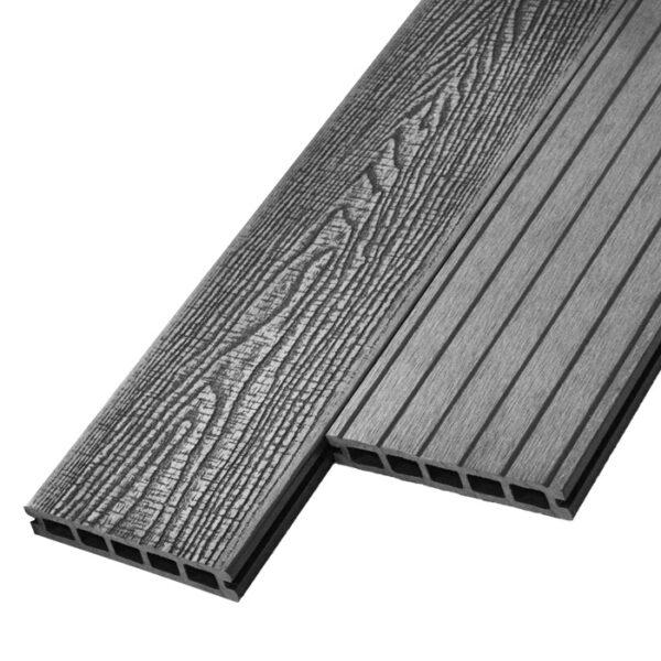 Террасная доска ДПК, декинг, палубная доска WoodVex Antique 150х25 мм цвет серый