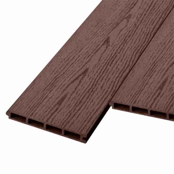 Заборная доска ДПК, панель шип-паз Woodvex Barrier цвет венге