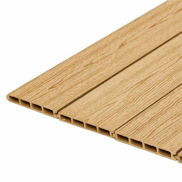 Заборная доска ДПК, панель шип-паз Woodvex Barrier цвет вуд