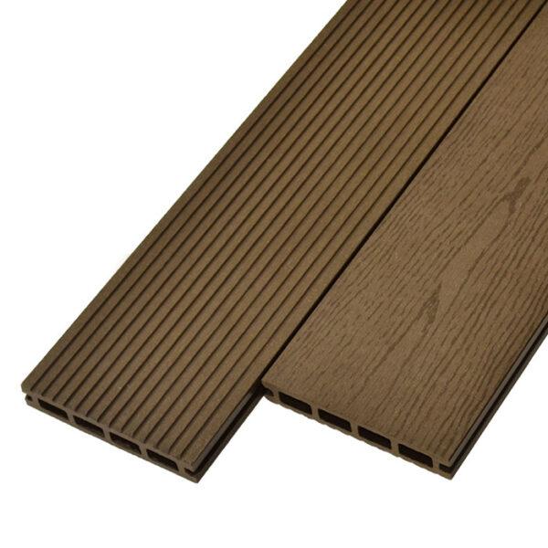 Террасная доска ДПК, декинг WoodVex Select 146х22 мм цвет темно-коричневый