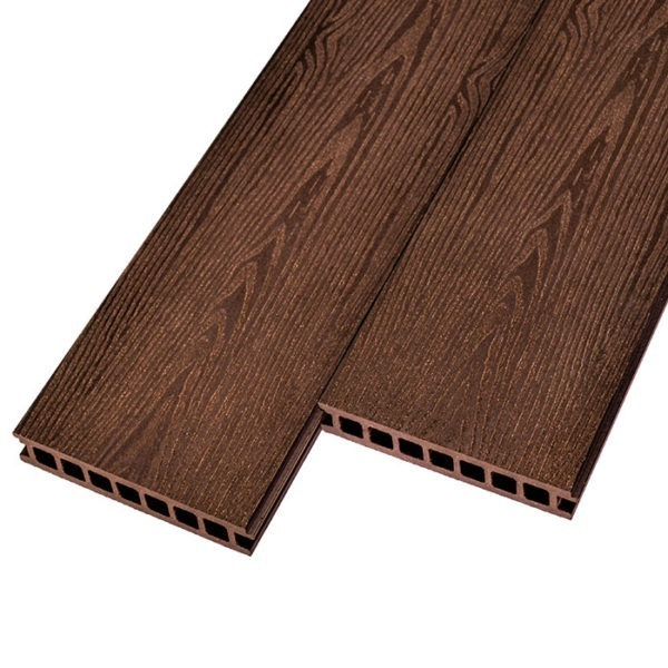 Бесшовная террасная доска ДПК, декинг WPC Solid 182x28 мм цвет шоколад