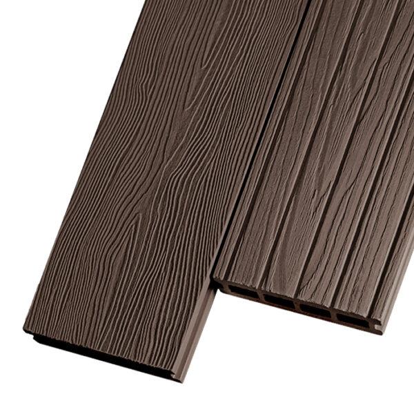 Композитная террасная доска из ДПК, декинг Capella Imperio 150х25 мм цвет коричневый