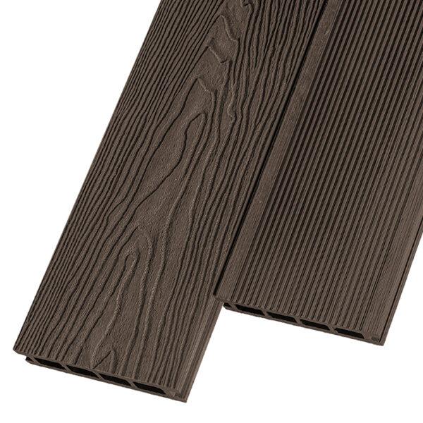Композитная террасная доска из ДПК, декинг Polivan Depasar 140х24 мм цвет коричневый
