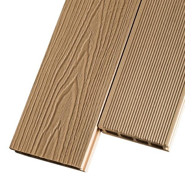Композитная террасная доска из ДПК, декинг Decking Premier 150х26 мм цвет орех