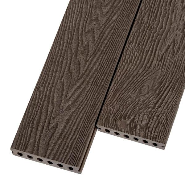 Композитная террасная доска из ДПК, декинг Polivan Titan 140х24 мм цвет коричневый