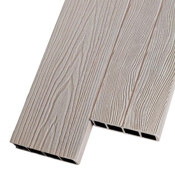 Композитная заборная и грядочная доска из ДПК Decking Corteze 150х25 мм цвет слоновая кость