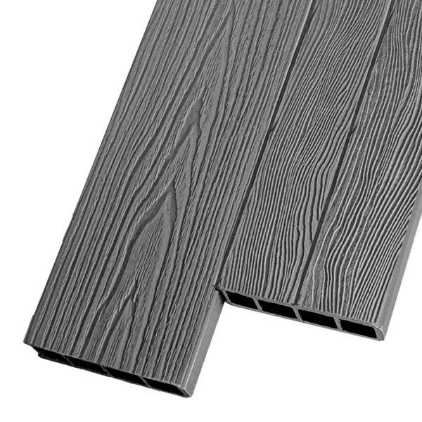 Композитная заборная и грядочная доска из ДПК Decking Corteze 150х25 мм цвет серый