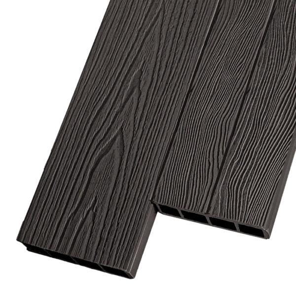 Композитная заборная и грядочная доска из ДПК Decking Corteze 150х25 мм цвет венге